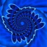 Espiral bastante azul Foto de archivo