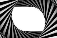 Espiral blanco y negro ilustración del vector