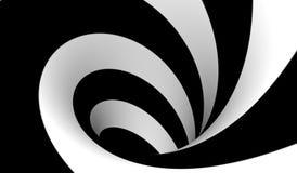 Espiral blanco y negro abstracto Imagen de archivo libre de regalías