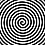 Espiral blanco y negro de la hipnosis Imágenes de archivo libres de regalías