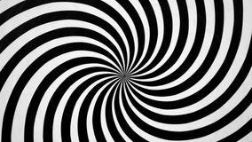 Espiral blanco y negro que hace girar a la izquierda stock de ilustración