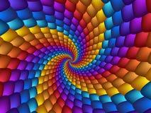 Espiral brilhantea do Fractal das esferas da espiral do arco-íris Fotografia de Stock Royalty Free