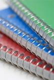 Espiral - cadernos encadernados. Fotografia de Stock