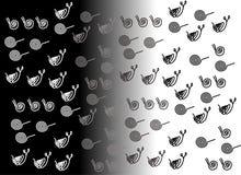 Espiral, caracol esquemático, negro, gris, blanco Fotografía de archivo libre de regalías