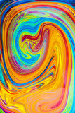 Espiral colorida da pintura a óleo fotos de stock royalty free