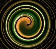 Espiral colorido brillante del fractal abstracto en un negro Fotos de archivo