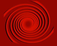 Espiral con los círculos de balanceo Foto de archivo libre de regalías