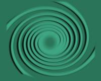 Espiral con los círculos de balanceo Imagen de archivo