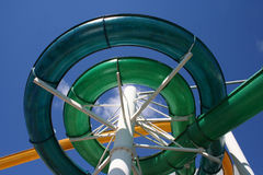 Espiral da corrediça de água Foto de Stock