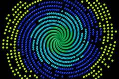 Espiral da esfera de goma ilustração do vetor