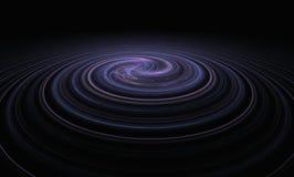 Espiral da nebulosa no fundo do espaço escuro ilustração do vetor