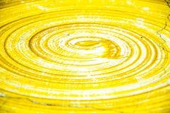 Espiral da superfície de BackgroundTexture com amarelo, branco, Fotografia de Stock Royalty Free