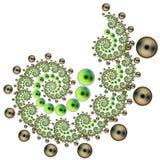 Espiral de la burbuja Foto de archivo libre de regalías