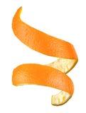 Espiral de la cáscara de naranja Foto de archivo