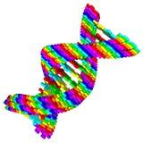 Espiral de la DNA del rompecabezas Fotografía de archivo