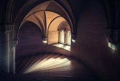 Espiral de la escalera de Bojnice fotos de archivo libres de regalías