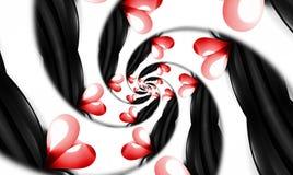 Espiral de los corazones del infinito. Imagenes de archivo