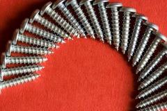 Espiral de madera del tornillo Imagen de archivo