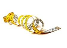 Espiral de medição da fita Foto de Stock Royalty Free