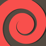 Espiral de papel vermelha em um fundo escuro do vetor do sumário do fundo Fotos de Stock