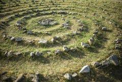 Espiral de pedra Imagem de Stock