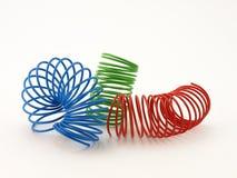 Espiral del alambre del color Foto de archivo libre de regalías