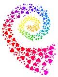 Espiral del amor del arco iris ilustración del vector