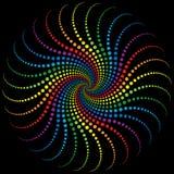 Espiral del arco iris Fotografía de archivo