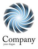 Espiral del azul de la insignia Foto de archivo libre de regalías