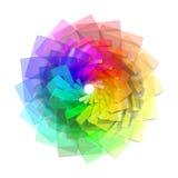 espiral del color 3d Foto de archivo libre de regalías