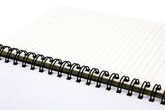 Espiral del cuaderno de notas alineado Fotografía de archivo libre de regalías