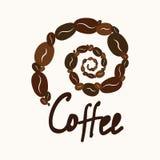 Espiral del elemento del café y del texto libre illustration