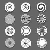 Espiral del movimiento, sistema del vector del remolino Imagen de archivo libre de regalías