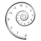 Espiral del tiempo Foto de archivo libre de regalías