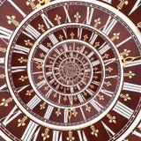 Espiral del tiempo del infinito Foto de archivo