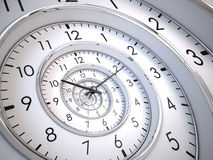 Espiral del tiempo del infinito Fotografía de archivo libre de regalías