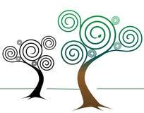 Espiral diseños del árbol Fotografía de archivo libre de regalías