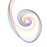 Espiral do arco-íris ilustração stock