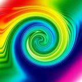 Espiral do arco-íris ilustração do vetor