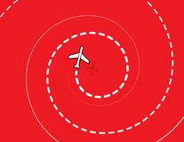 Espiral do avião Foto de Stock Royalty Free