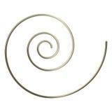 espiral do ouro 3d Imagens de Stock Royalty Free