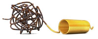 Espiral do ouro Fotos de Stock