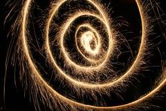 Espiral do Sparkler fotografia de stock royalty free