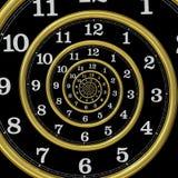 Espiral do tempo da infinidade Imagens de Stock Royalty Free
