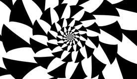 Espiral do vetor no fundo branco Efeito da hipnose, teste padrão abstrato imagens de stock