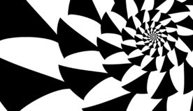 Espiral do vetor no fundo branco Efeito da hipnose, teste padrão abstrato foto de stock