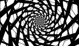 Espiral do vetor no fundo branco Efeito da hipnose, teste padrão abstrato fotografia de stock
