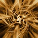 Espiral dourada da energia Fotografia de Stock Royalty Free