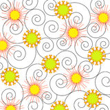 Espiral e flores Fotografia de Stock