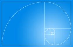 Espiral dourada ilustração stock